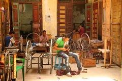 Ouvriers d'amorçage Image libre de droits