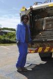 Ouvriers d'enlèvement d'ordures Photographie stock libre de droits