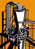 Ouvriers de centrale Images stock