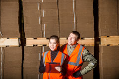 Ouvriers de moulin à papier Photo libre de droits