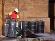 Ouvriers de reconstruction Photos stock