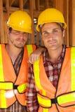 ouvriers du travail deux de construction Photo libre de droits