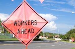 Ouvriers en avant Photographie stock libre de droits