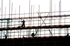 Ouvriers et chantier de construction Photos libres de droits