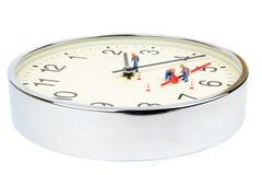 Horloge cassée Photographie stock