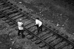 Ouvriers (photo spéciale f/x) Images stock