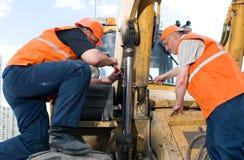Ouvriers sur le travail Photo stock
