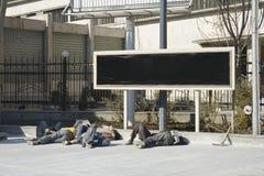 Ouvriers très fatigués Photo stock