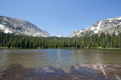 Ouzel lake Lake in Rocky Mountains in summer Royalty Free Stock Image