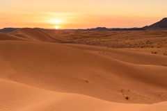 Ouzina sahara desert dunes sunset, Morocco Stock Photos
