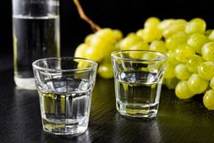 Ouzo ou Raki traditionnel de boissons photographie stock