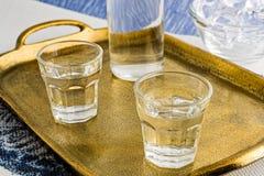 Ouzo ou Raki traditionnel de boissons image libre de droits
