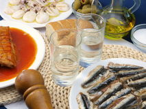 Ouzo and tsipouro stock photography