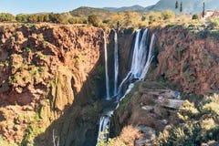 Ouzoud瀑布 摩洛哥 免版税库存图片