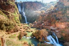 Ouzoud瀑布 摩洛哥 库存图片