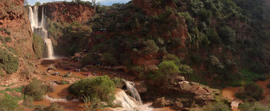 Ouzoud понижается панорама Стоковое фото RF
