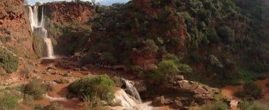 Ouzoud Falls Panorama Royalty Free Stock Photo
