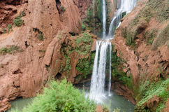 Ouzoud waterfalls in Grand Atlas village of Tanaghmeilt Royalty Free Stock Photography