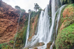 Ouzoud waterfalls in Grand Atlas village of Tanaghmeilt Royalty Free Stock Photos