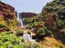 Ouzoud Waterfalls in Morocco Royalty Free Stock Images