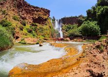 Ouzoud Waterfalls in Morocco Stock Image