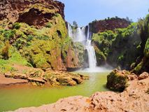 Ouzoud Waterfalls in Morocco Stock Photos