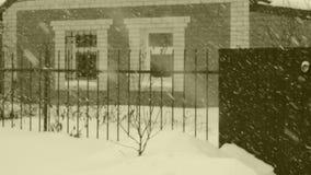 Oväntat i dag gick snöfall lager videofilmer