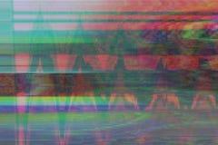 Oväsen för kulturföremål för tekniskt felvhs-bakgrund, distorsion stock illustrationer