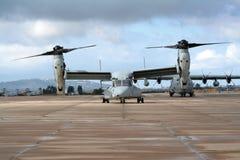OV-22 Osprey. A Marines OV-22 Osprey aircraft Royalty Free Stock Images