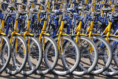 OV rent bikes from the Dutch Railways. Stock Images