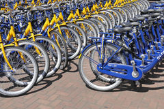 OV rent bikes from the Dutch Railways. Stock Photos