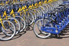 OV rent bikes from the Dutch Railways. Stock Photos