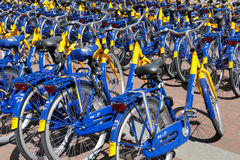 OV rent bikes from the Dutch Railways. Stock Photo