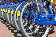 OV rent bikes from the Dutch Railways. Royalty Free Stock Photo