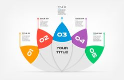 Ova-lotus text Infographic Templates for Business Vector Illustration, can illustrate a strategy, workflow or team work. Timeline, vector flat color Stock Images