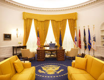 Ovaal Bureau Nixon Library Stock Afbeeldingen