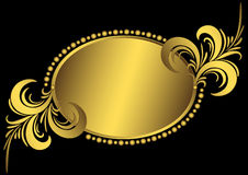 Ovaal gouden uitstekend frame Royalty-vrije Stock Afbeelding