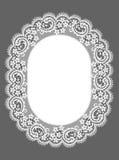Ovaal kader kant Bloemen patroon Royalty-vrije Stock Foto's