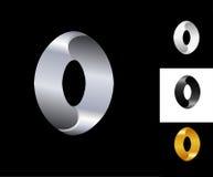 Ovaal van het het ontwerpmalplaatje van het tekenembleem zwart het witgoudzilver Royalty-vrije Stock Afbeeldingen