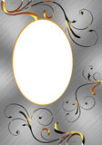 Oval aluminum frame Royalty Free Stock Photo