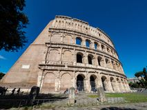 oval amphitheatre in the centre of the city of Rome, Italy royalty free stock photography