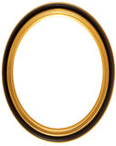 Oval antique picture frame Royalty Free Stock Image
