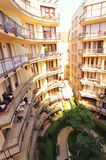 Oval apartment complex in Budapest Stock Images