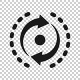 Oval with arrows icon in transparent style. Consistency repeat vector illustration on isolated background. Reload rotation. Business concept royalty free illustration