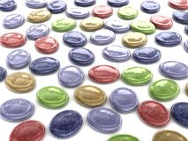 Oval assorted color hard sweet candy Stock Images