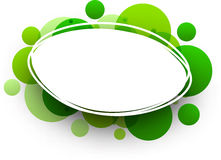 Oval background with green bubbles. Stock Image