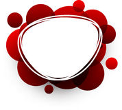 Oval background with red bubbles. Stock Photography