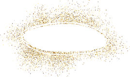 Oval background with sand. Royalty Free Stock Photo