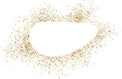 Oval background with sand. Stock Photo
