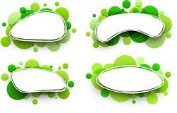 Oval backgrounds with green bubbles. Royalty Free Stock Image